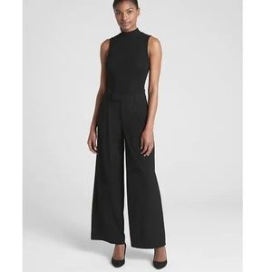 NWT Gap High Rise Wide Leg Pants 8 Black v292